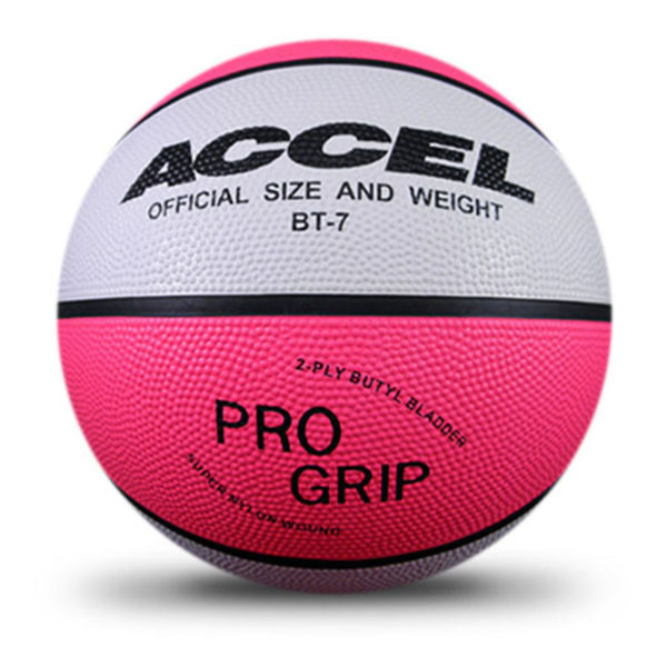 NEON COLORED RUBBER BASKETBALL
