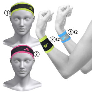 HEADBANDS AND WRISTBANDS 6-PIECE SET W (MIX)