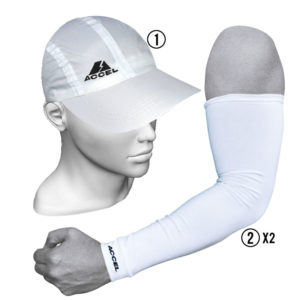 SPORTS CAP AND SPORT SLEEVES (WHITE)