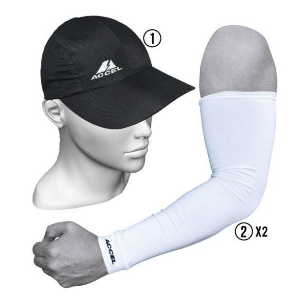 SPORTS CAP AND SPORT SLEEVES