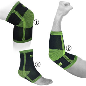 KNITTED ELBOW, ANKLE AND KNEE SUPPORTS